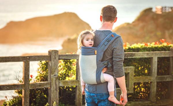 beco toddler cool grey sling spot