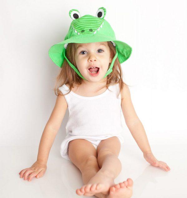 Zoocchini Frog Baby Sun Hat