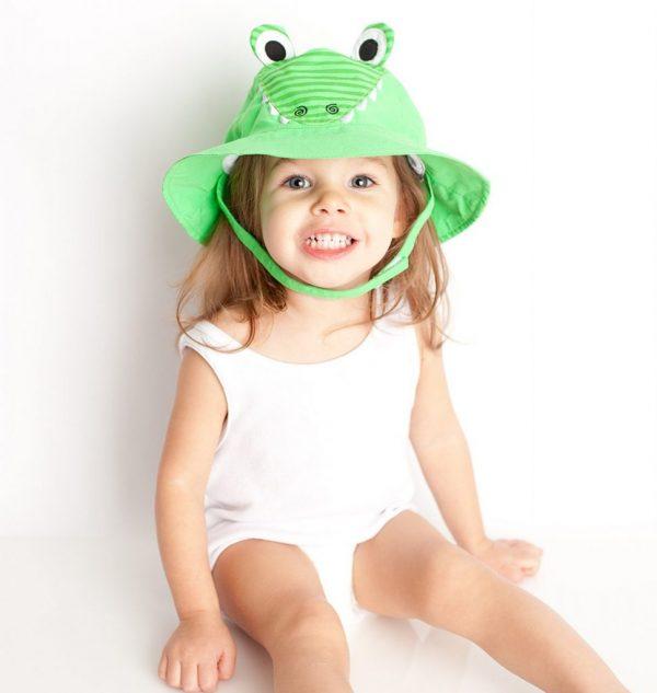 Zoocchini Alligator Baby Sun Hat
