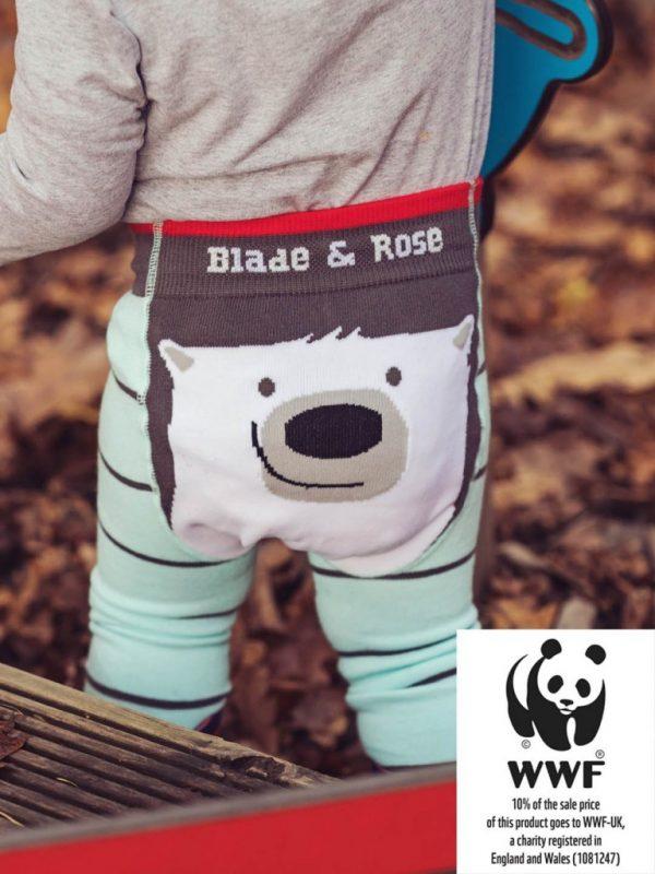 Blade and Rose WWF Polar Bear Leggings 0-6 Months